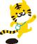 穴吹カレッジのキャラクター「穴トラ」